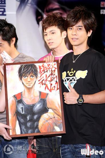 《篮球火》演员签名会 漫画作家为罗志祥送画像_港台星闻_娱乐_腾讯网 - 慧慧 - 慧慧的世界