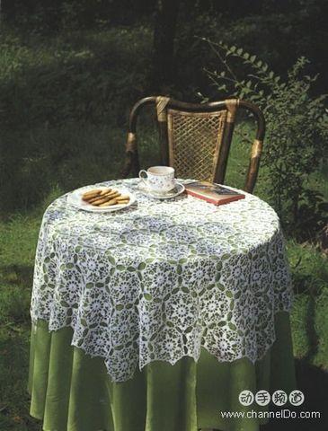 漂亮的钩针桌布 - 宁静如水 - ˇ.编时光