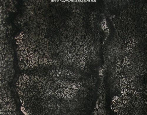 火星上的蓝莓果/胡世钢水墨作品 - 胡世钢  - 胡世钢诗空间