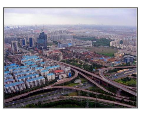 城市规划的俯视图