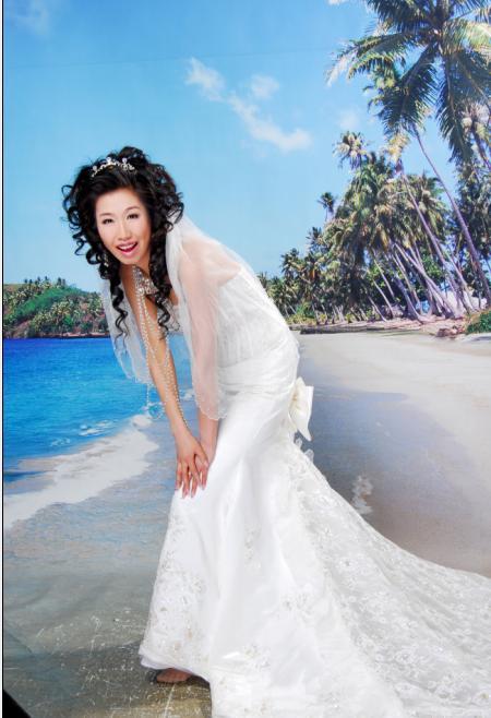 白纱二-新鲜出炉的小女子的 婚纱照 奉上喽