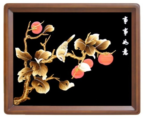 (美工收藏)古文化之瑰宝--麦秸画 -  三月飞春雪 - 三月飞春雪