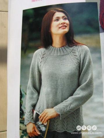 引用 漂亮的插肩袖毛衣(有图解) - 茉莉 - 编织生活