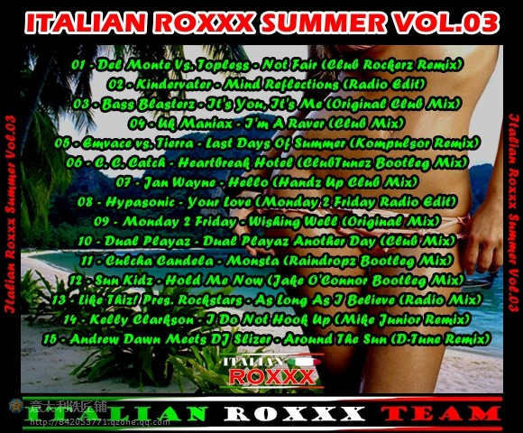 VA-Italian_Roxxx_Summer_Vol.01-03-CD-2010 - 意大利铁匠 - 分享劲爽节奏--XINBO21