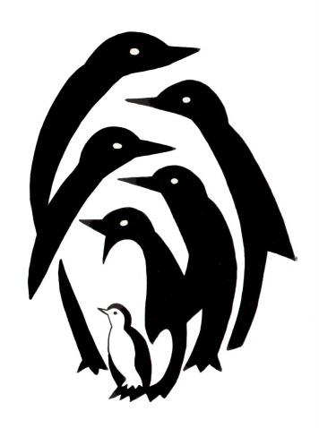 我十年前设计的企鹅系列 - 何鸣芳 - 何鸣芳的版画藏书票博客