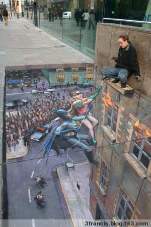 非常逼真的街头立体画[23P] - 3francis - 天主堂图片