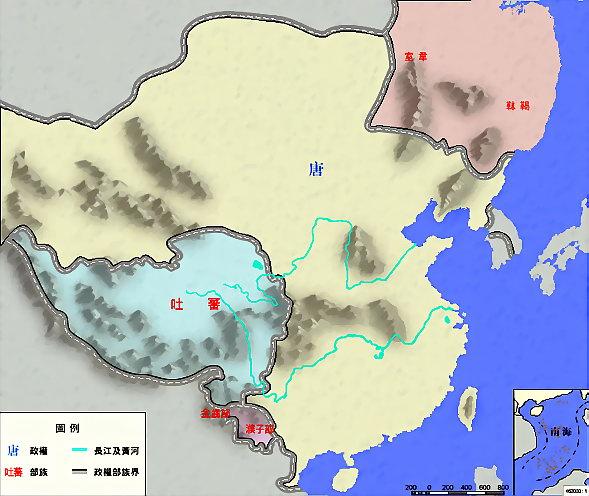中国历代王朝简介及疆域地图