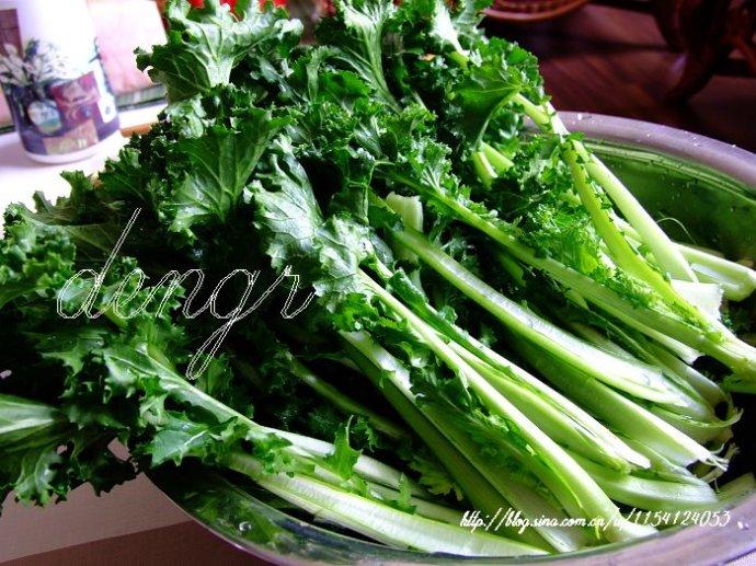 春季养生多食时令鲜蔬,苔菜炒肉片(附14款时令蔬菜 - 可可西里 - 可可西里