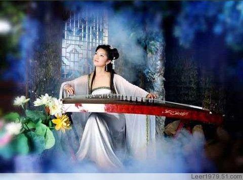 学古筝 - 淡淡蓝 - 美丽无处不在,我的世界花开满天