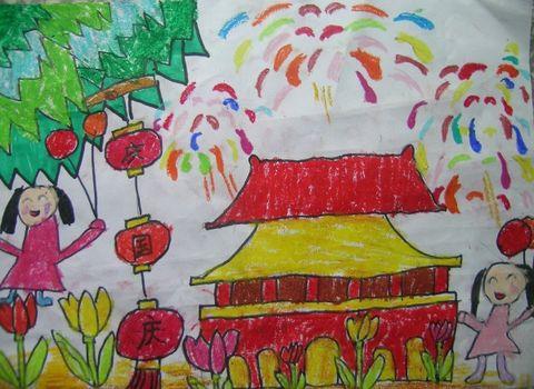 高邮风景照片儿童画