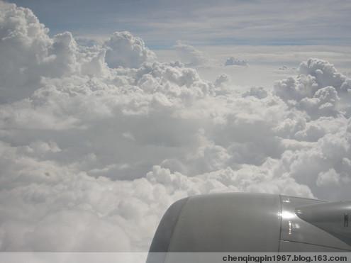 空中拍摄一字云:证实是飞机拉烟 - 陈清贫 - 魔幻星空的个人主页