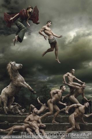 """年度巨献:35男模7个月打造现代壁画""""预言"""" - 大鹏 - 爱熊说——健身达人VS时尚先生"""