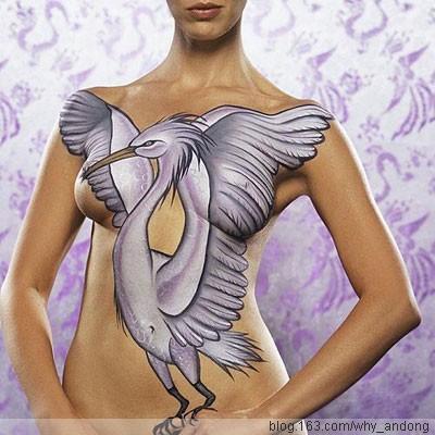 彩绘艺术为什么只有女体而无男体 - 蝴蝶 - 一日一生
