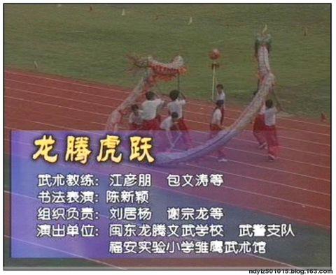 陈新颖巨幅书法表演--龙腾虎跃(视频) - 颐兰斋主 陈新颖 -                  颐兰斋