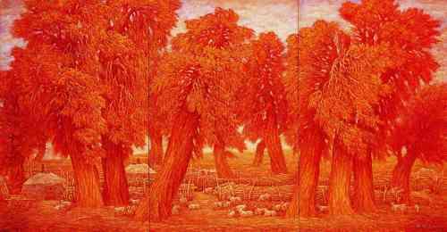 """年   作品《银河》入选""""第三届中国油画展""""并入选出国文化"""