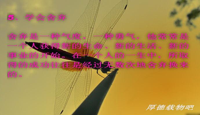 人生幸福必须的六个法宝(组图)