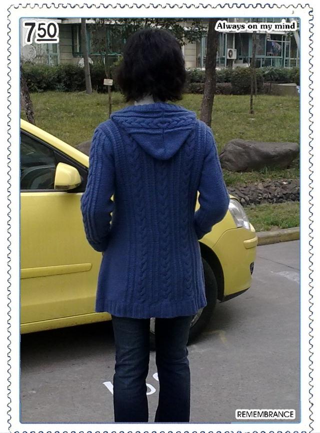 牛仔蓝羊绒大衣   - 空中浮萍 - 空中浮萍的博客