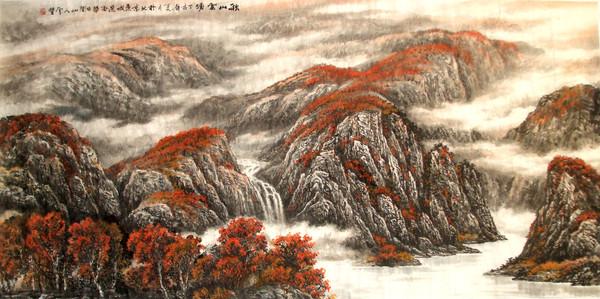 雪丰网易·中国书画参展作品 - 画家雪丰 - 雪丰中国画山水画
