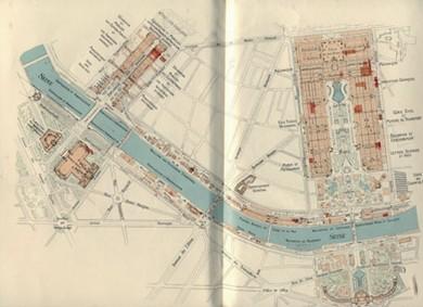 1900年巴黎世博会布局图