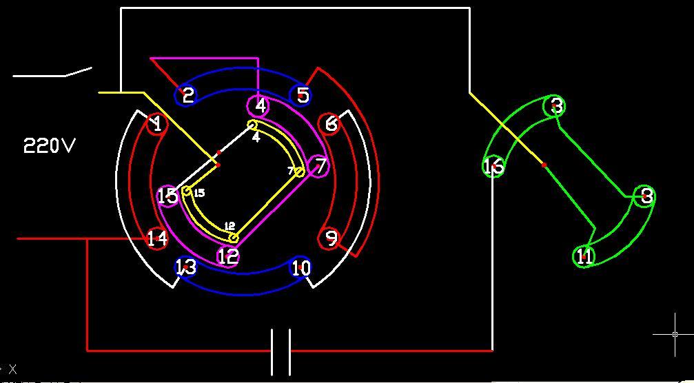 用灯泡和指针万用表判断三相电机线圈的同名端