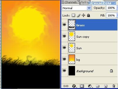 Ps工具轻松打造日落美景 - 迎春 -