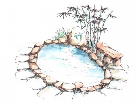 温泉设计手绘图集