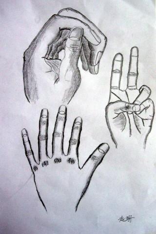 创意素描作品图片