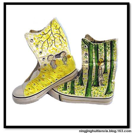 宁静绘天下的可爱手绘鞋子(附保养)