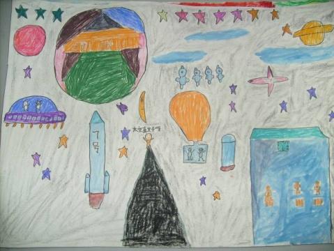 航天科幻画参赛作品图片