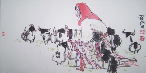 吉祥物----羊 - 书画家罗伟 - 书画家罗伟的博客