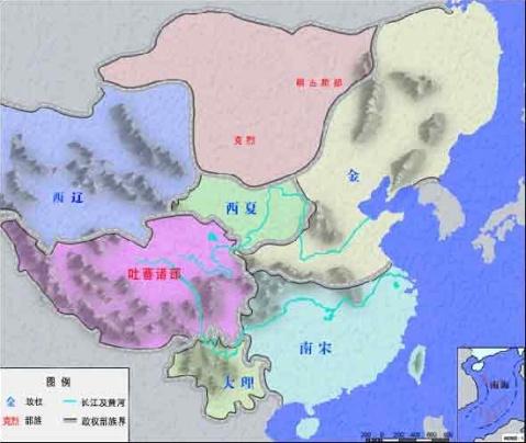 地图 中国 赵匡胤/960年,赵匡胤通过兵变取代了后周,建立宋朝,首都仍在东京...