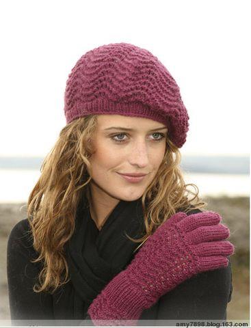 波浪花型贝雷帽及手套(图解及说明) -  Amy の 温馨小屋 -