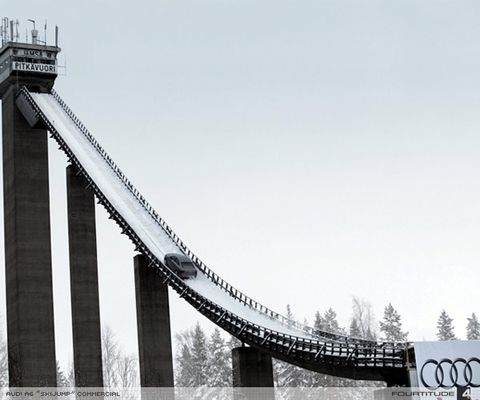 奥迪A6爬坡滑雪跳台广告 - Cheney.Z - 天蝎晴空
