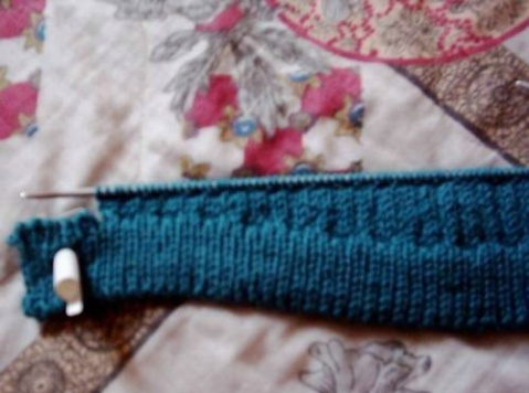 开口园肩毛衣编织过程 - 夕阳无限好 - 夕阳无限好