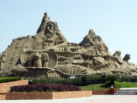 看沙雕艺术  观东海日出 - 品味人生 -