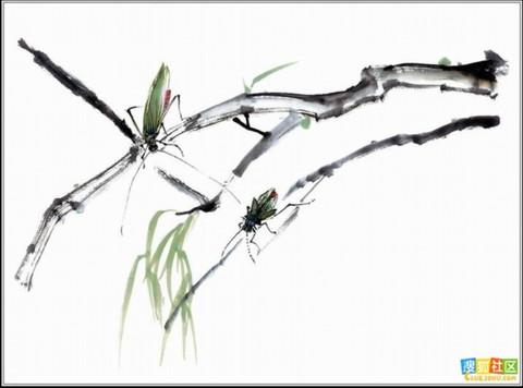 【转载】【图文】中国画的简洁之美 - 盘山红叶 - 盘山红叶的博客