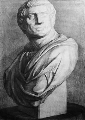 《素描石膏像》