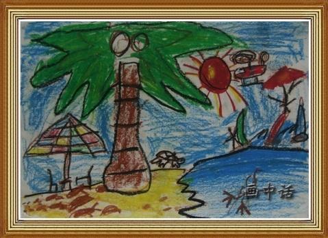"""欣赏(6):我家的""""畫廊""""----室雅何需大 - 蓝桑的画中话 - 画中话"""