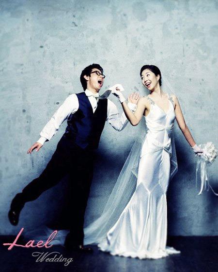 韩国明星结婚照_