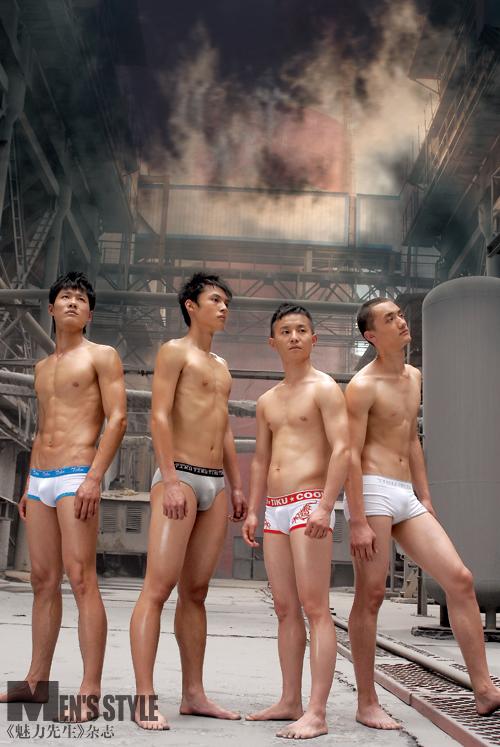 新生代帅哥裸身演绎《魅力先生》性感内衣特刊 - 同志图片 - 帅哥图片