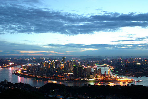旅游景点景区 重庆渝中半岛夜景 山西卓越国际旅行社有限公司