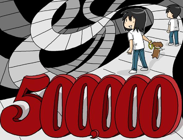 点击冲向500000贺图及友情赞助&五一假期快乐~ - 小步 - 小步漫画日记