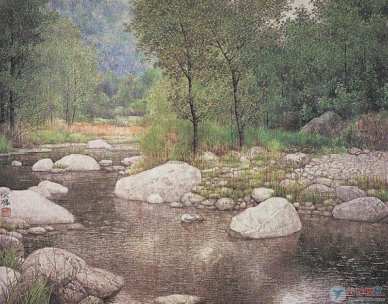 【国画】宋涤的秀丽山水画 - 南安野叟 - 南安野叟的博客