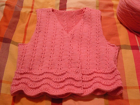 给宝宝的手工-粉色小背心 - zy5566xtf@126 - zy5566xtf@126 的博客