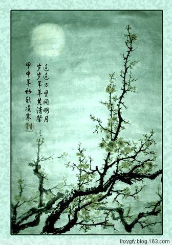 (原创)题我的国画 花鸟小品诗 - 凌寒 - 梅影清溪
