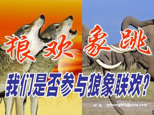狼欢象跳——我们是否参与狼象联欢? - 叶弘 - 叶弘 谈股市股民股票