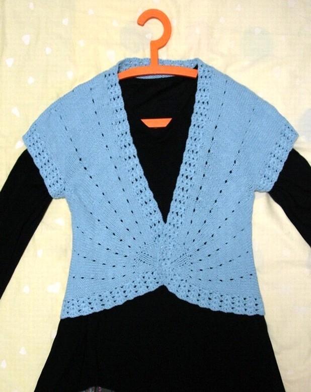 棒针版的小贝衫--教程 - 一沙一世界 - 一沙一世界的博客