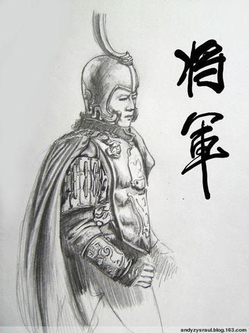 手绘将军图片
