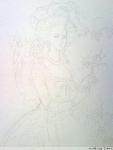 水彩人像:玛丽·安东奈特王后 - 无疆 - 无疆的世界