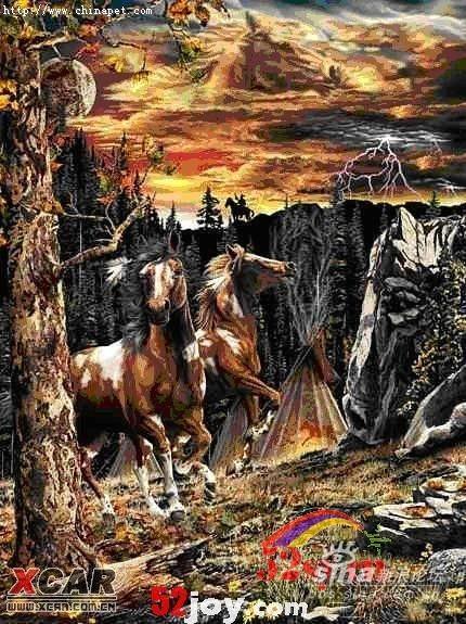 考你的眼力--你能看出几匹马?  - 蓝色之梦 - ★☆★蓝色之梦★☆★的博客